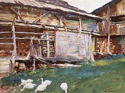 Woodsheds - Tyrol | John Singer Sargent | Oil Painting