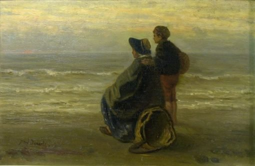 Mother and Child on the Seashore | Jozef Israels | Oil Painting