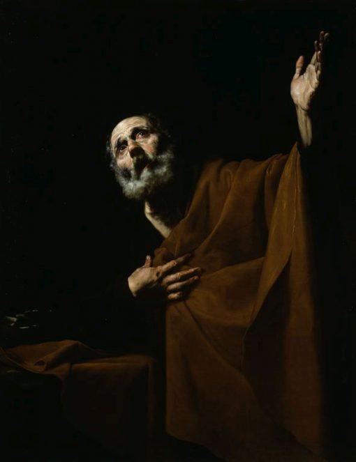 Penitent Saint Peter   Jusepe de Ribera   Oil Painting