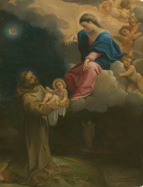 The Vision of Saint Francis | Lodovico Carracci | Oil Painting
