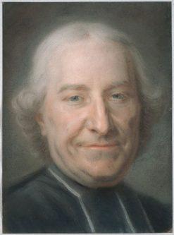 Portrait of Claude Charles Deschamps | Maurice Quentin de La Tour | Oil Painting