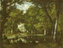 Pond in the Woods   Narcisse Dìaz de la Peña   Oil Painting