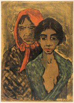 Two Gypsies   Otto Mueller   Oil Painting