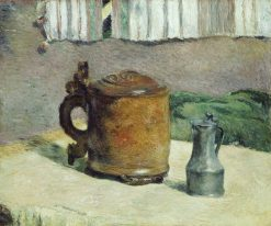 Wood Tankard and Metal Pitcher | Paul Gauguin | Oil Painting