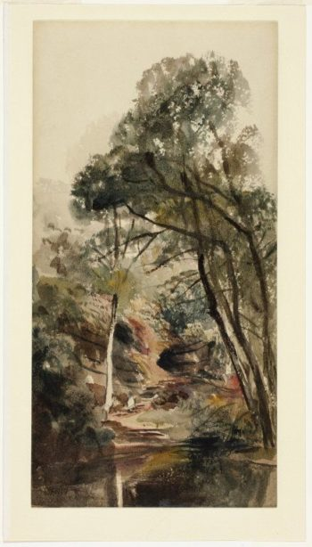 A Wooded River Landscape   Peter de Wint   Oil Painting