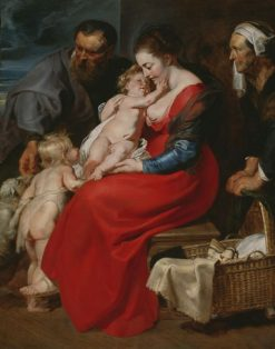 The Holy Family with Saints Elizabeth and John the Baptist | Peter Paul Rubens | Oil Painting