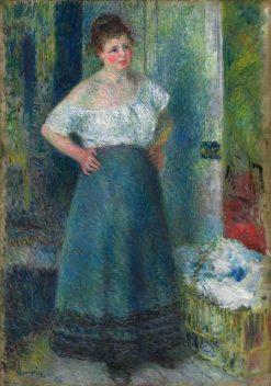 The Laundress | Pierre Auguste Renoir | Oil Painting
