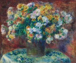 Chrysanthemums | Pierre Auguste Renoir | Oil Painting