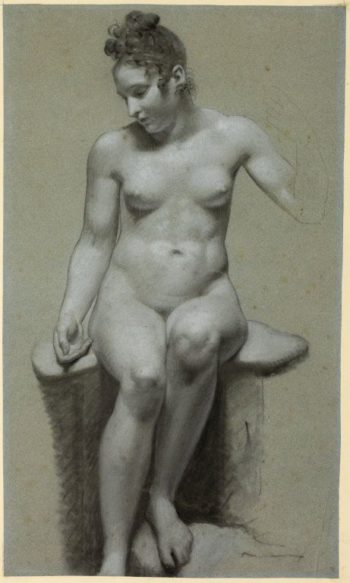 Seated Female Nude | Pierre Paul Prud'hon | Oil Painting