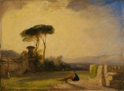 View of the Grounds of a Villa near Florence | Richard Parkes Bonington | Oil Painting