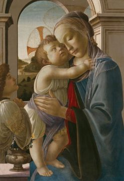 Virgin and Child with an Angel | Sandro Botticelli | Oil Painting