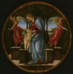 Virgin and Child with Two Angels | Sandro Botticelli | Oil Painting