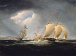 Capture of the Tripoli by the Enterprise | Thomas Birch | Oil Painting