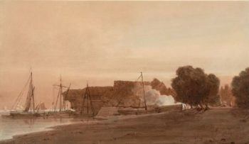 A Boatyard at the Mouth of an Estuary | Thomas Girtin | Oil Painting