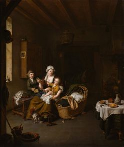 A Mother Feeding Her Child | Willem van Mieris | Oil Painting