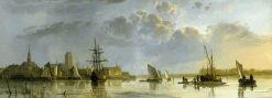 View of Dordrecht from the Maas | Aelbert Cuyp | Oil Painting