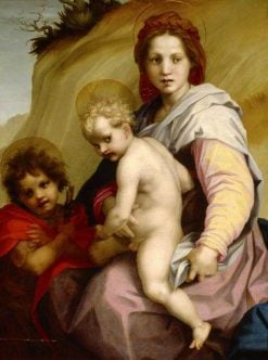 The Madonna and Child with the Infant Saint John the Baptist(also known as The Fries Madonna) | Andrea del Sarto | Oil Painting