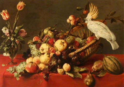 Still Life with Fruit and a Cockatoo | Frans Snyders | Oil Painting
