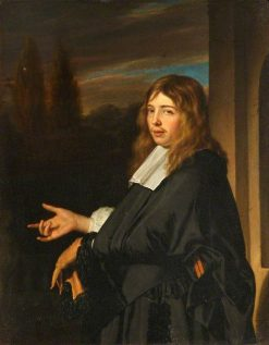 Portrait of a Man Holding a Glove | Frans van Mieris the Elder | Oil Painting