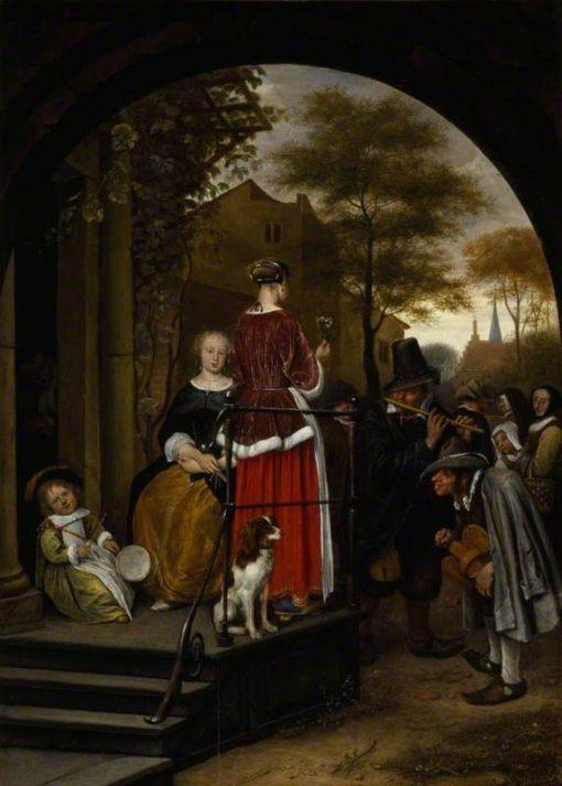 Itinerant Musicians | Jan Havicksz. Steen | Oil Painting