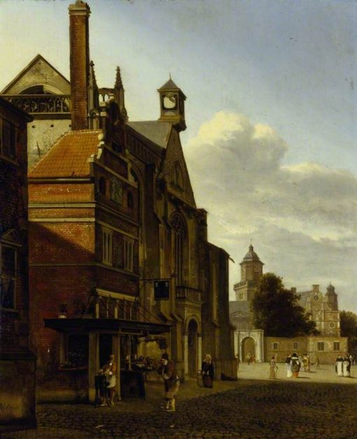 A Square in a Dutch Town | Jan van der Heyden | Oil Painting