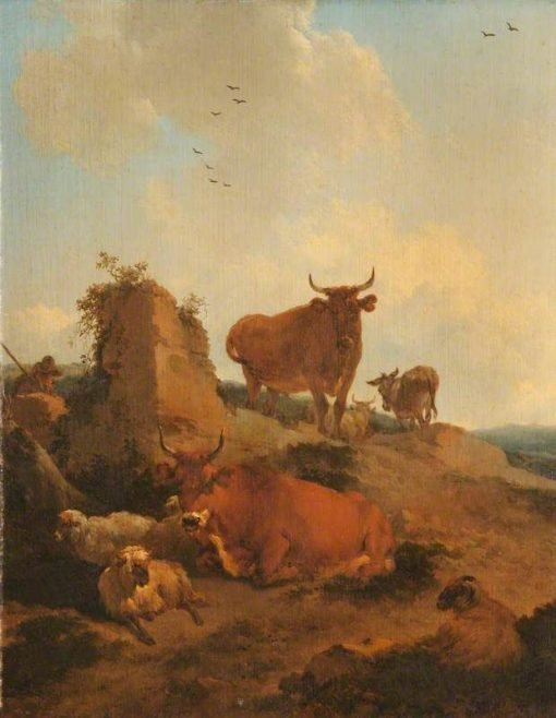 Cattle and Sheep in a Landscape | Nicolaes Berchem | Oil Painting