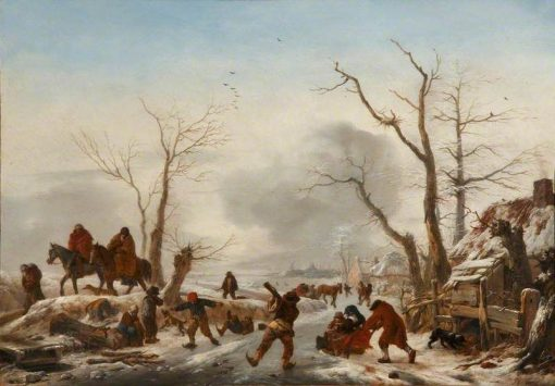 A Winter Landscape | Philips Wouwerman | Oil Painting