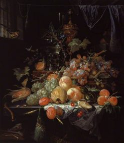 Interior with a Still Life   Abraham Mignon   Oil Painting