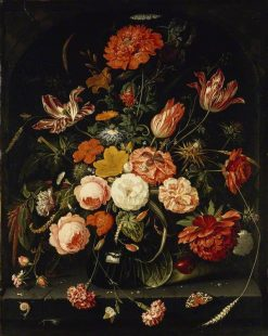 Vase of Flowers with Two Carnations | Abraham Mignon | Oil Painting
