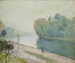 A Bend in the River Loing | Alfred Sisley | Oil Painting