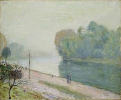 A Bend in the River Loing   Alfred Sisley   Oil Painting