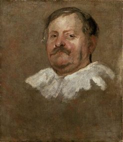 Head of a Bearded Man Wearing a Falling Ruff | Anthony van Dyck | Oil Painting