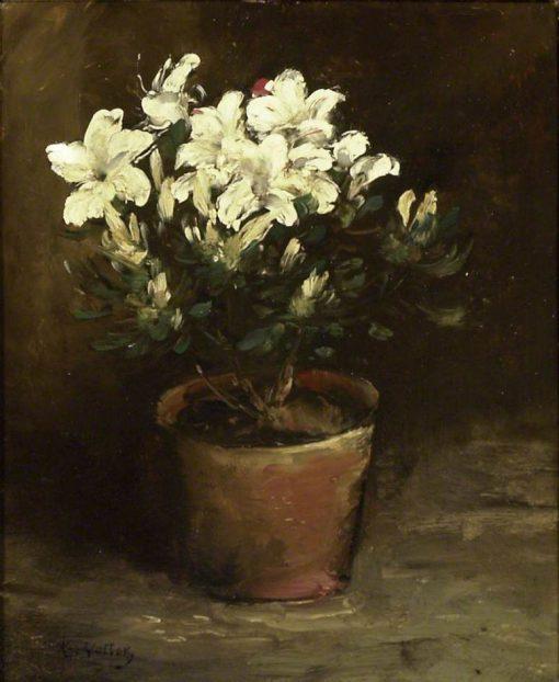 Still Life of White Azaleas | Antoine Vollon | Oil Painting