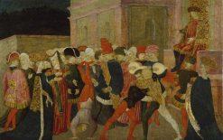 The Rape of the Sabine Women   Apollonio di Giovanni di Tommaso   Oil Painting