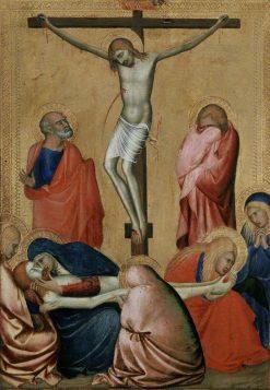 The Crucifixion and Lamentation | Barna da Siena | Oil Painting