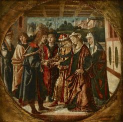 The Marriage of Antiochus and Stratonice | Bartolomeo Montagna | Oil Painting