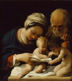 The Holy Family with the Young Saint John the Baptist | Bartolomeo Schedoni | Oil Painting