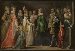 A Betrothal | Bernardo Strozzi | Oil Painting