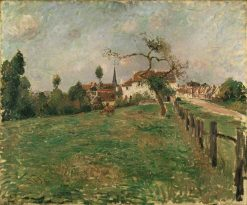 The Village of Eragny | Camille Pissarro | Oil Painting