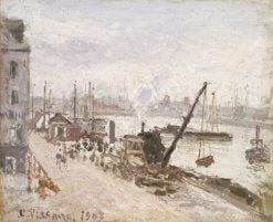 Quayside at Le Havre | Camille Pissarro | Oil Painting