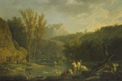 River Scene with Bathers | Claude Joseph Vernet | Oil Painting