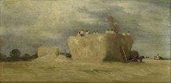 A Barley Rick: Storm | David Charles Read | Oil Painting