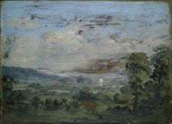 Britford Vale and Church | David Charles Read | Oil Painting
