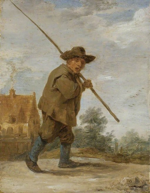 A Peasant carrying a Rod over his Shoulder | David Teniers II | Oil Painting