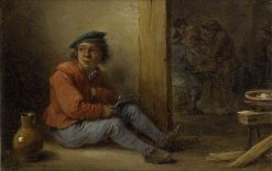 A Young Peasant Seated in an Interior | David Teniers II | Oil Painting