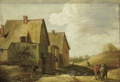 Landscape with a Farmhouse and Figures | David Teniers II | Oil Painting