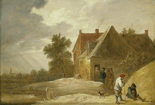 Landscape with a Farmhouse and Figures on the Banks of a River | David Teniers II | Oil Painting