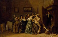 Merry Company in an Interior   Dirck Hals   Oil Painting