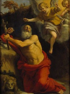 The Vision of Saint Jerome   Domenichino   Oil Painting