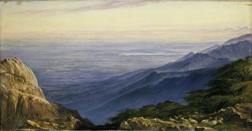 The Plains of Lombardy from Monte Generoso | Edward Lear | Oil Painting